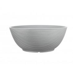 Кръгла кашпа - 80 сива