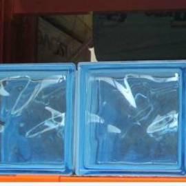 Стъклени тухли - Азур 19x19x8 см