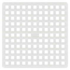 Противохлъзгаща постелка за баня Square - 53х53 см, бяла, PVC