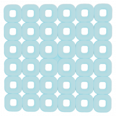 Противохлъзгаща постелка за баня Paco - 55х55 см, синя, PVC