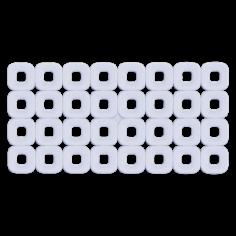 Противохлъзгаща постелка за баня Paco - 37х74 см, прозрачна, PVC
