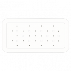 Противохлъзгаща постелка за баня Smoothie - 35х71 см, бяла, PVC