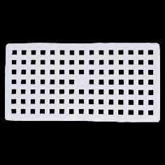 Противохлъзгаща постелка за баня Square - 37х72 см, прозрачна, PVC