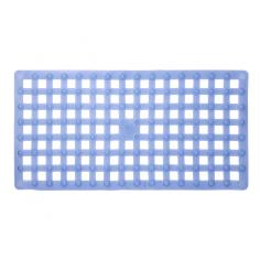 Противохлъзгаща постелка за баня Indigo - 37х72 см, синя, PVC