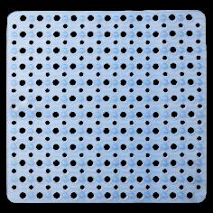 Противохлъзгаща постелка за баня Mesh - 53х53 см, синя, PVC