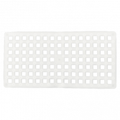 Противохлъзгаща постелка за баня Square - 37х72 см, бяла, PVC