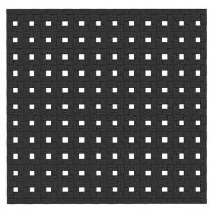 Противохлъзгаща постелка за баня Basky - 54х55 см, черна, PVC