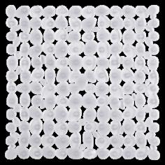 Противохлъзгаща постелка за баня Sasso - 53х53 см, прозрачна, PVC