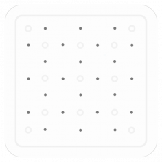 Противохлъзгаща постелка за баня Smoothie - 53х53 см, бяла, PVC