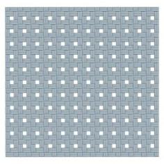 Противохлъзгаща постелка за баня Basky - 54х55 см, сива, PVC