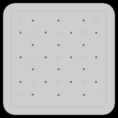 Противохлъзгаща постелка за баня Smoothie - 53х53 см, сива, PVC