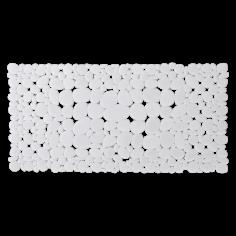 Противохлъзгаща постелка за баня Sasso - 36х71 см, бяла, PVC