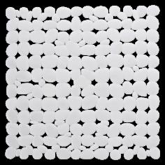 Противохлъзгаща постелка за баня Sasso - 53х53 см, бяла, PVC