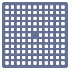 Противохлъзгаща постелка за баня Indigo - 53х53 см, синя, PVC
