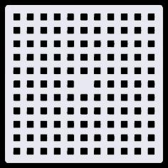 Противохлъзгаща постелка за баня Square - 53х53 см, прозрачна, PVC
