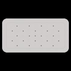 Противохлъзгаща постелка за баня Smoothie - 35х71 см, сива, PVC
