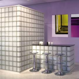 Стъклени блокчета за ъгли - прозрачни 19x13.2x8 см