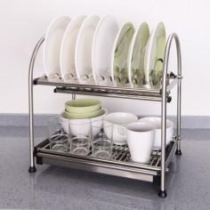 Imagén: Сушилник за чинии и чаши Inter Ceramic 225C - 40,5х27,8х45,2 см, двоен
