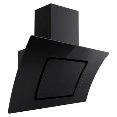 Скосен стъклен абсорбатор и аспиратор Respekta CH 55090 SA - Ширина 90 см, максимален дебит 621 м³/час, черен
