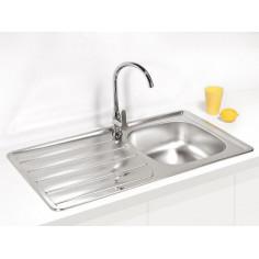 Кухненска мивка за вграждане Alveus Zoom 30 - 86х50 см, неръждаема стомана, инокс