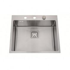 Кухненска мивка Inter Ceramic 6052 - 60х50 см, алпака, сребриста