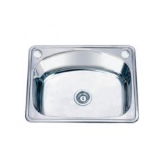 Кухненска мивка Inter Ceramic D6248P/6046 - 47,5х61,5 см, алпака, сребриста