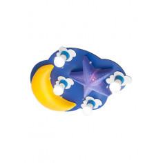 Плафон за детска стая Starry Night - 4 x 28W + 2 x 12W, 4 x E27, 2 x E14, син/жълт