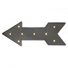 LED светеща табела, сива стрелка, с таймер, лява