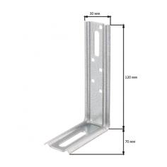 Регулируем монтажен ъгъл - ДхШхВ 120х72х30 мм, стомана, поцинкован, 90°