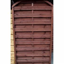 Дървена ограда - кафява - 100 x 160 x 180 см