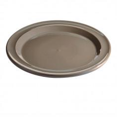 """Керамична основна чиния """"DINNER PLATE"""" - цвят сиво-бежов"""