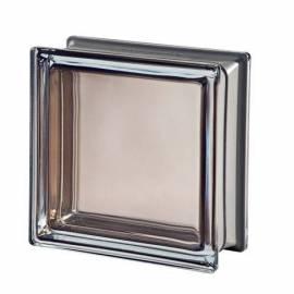 Стъклени блокчета - кафяви 19x19x8 см