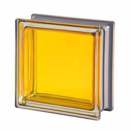 Стъклени блокчета - жълти 19x19x8 см