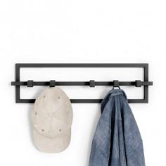 """Закачалка за стена """"CUBIKO"""" - черен цвят"""