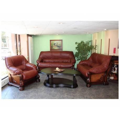 Чикаго - кожена мека мебел - бордо