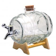 Стъклен диспенсер за алкохол - буре - 1 л.