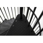 Метална вита стълба RONDO color - antracit, интериорна, диаметър - Ø: 120, 140 и 160 см