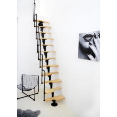 Imagén: TWIST - стълба пачи крак, метал - сив и черен, стъпала - мултиплекс бреза