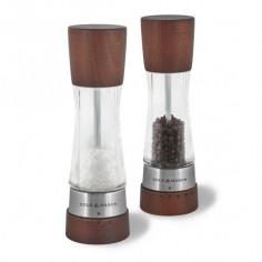 """Комплект мелнички за сол и пипер """"DERWENT FOREST WOOD"""" - 19 см. - с механизъм за прецизност - цвят кафяв"""