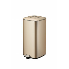 """Кош за отпадъци с педал """"REGENT"""" - 32л - цвят златно шампанско"""