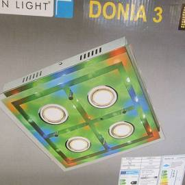 LED плафон Donia 3, с дистанционно