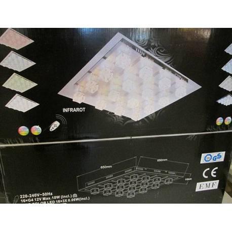 LED плафон с дистанционно - 650 x 650 x 115 mm