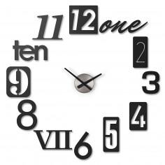 "Стенен часовник ""NUMBRA"" - черен"