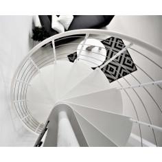 VENEZIA - бели стъпала от бук, бял парапет - диаметър - Ø: 120, 140 и 160 см