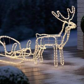Led светещ елен с шейна L - 126 см, led лампички 20,16 W