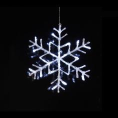 LED снежинка за окачване Eglo - 3,6 W, Ø40 см, 24 V DC, 24 светодиода, IP44