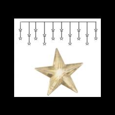 Коледна LED звездна завеса Eglo - 1,5 W, 5 V DC, ДхШхВ 180х1,5x40 см, 20 светодиода, IP20
