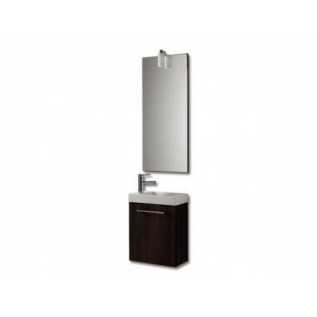 Мебели за баня Бижу, 40 см, MDF бял