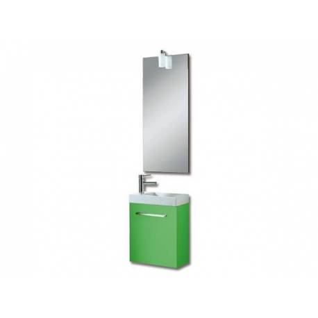 Мебели за баня Бижу, 40 см, MDF зелен перлен мат