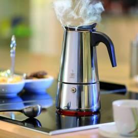 "Стоманена кафеварка ""Emilio"" за 4 кафета, 200 ml"